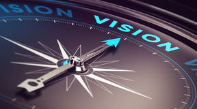 business-vision-compass-needle-pointing-word-blur-effect-plus-blue-black-tones-conceptual-image-immustration-42162095