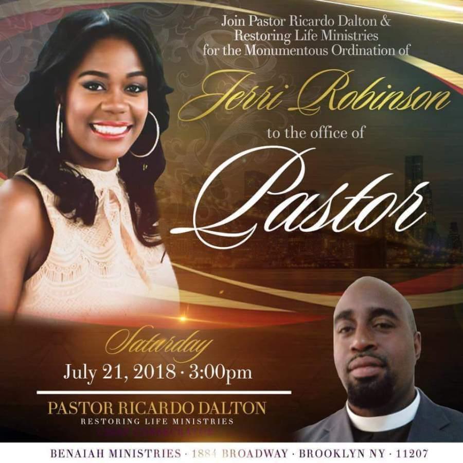 Restoring Life Ministries Inc. Pastoral Installation of Prophetess Jerri M. Robinson -July21st.